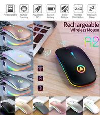 Maus USB Kabellos Wireless Funkmaus 2.4Ghz Aufladbar Notebook Laptop Bluetooth