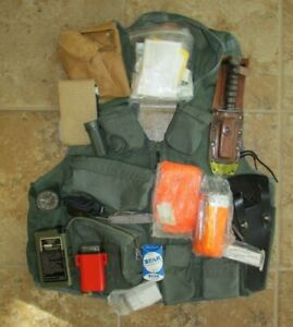Nice! SRU-21/P Survival Vest with Contents Knife Compass Beacon Strobe Mirror