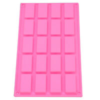 20 cell Sample Size Mini Candy Chocolate Bar Guest Soap Silicone Mould Craft DIY