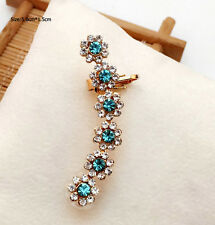 1PC 18KGP Gold Plated Crystal Left Ear Clip On Stud Earring Charm Design