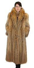 Large FINNISH RACCOON FUR COAT! Feathered, Lightweight Design! w/FUR STORAGE BAG