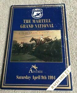 1994 Grand National Racecard, Miinnehoma & Richard Dunwoody winning year