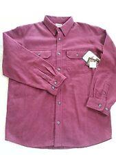 C.E. Schmidt Workwear Heavy Flannel Solid Maroon Shirt Men's Size L