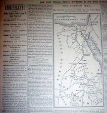 5 1883 newspapers MAHDIST WAR in SUDAN British Colonial War ISLAMIC TERRORIST