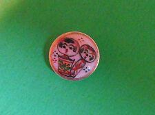 "Antique Vintage Original Satsuma Ceramic Button 1/2"" inch Tiny Koishi Dolls"
