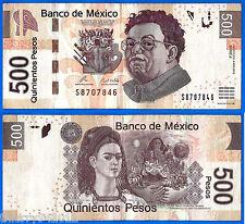 Mexico 500 Pesos 2010 Serie J Prefix S Rivera Banknote Peso Free Shipping World