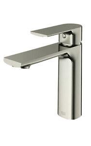 VIGO Davidson Single Hole Single-Handle Bathroom Faucet Brushed Nickel VG01043BN