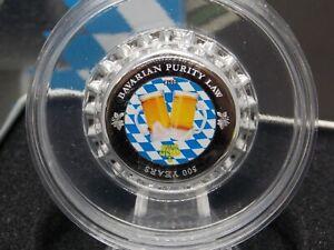 "2016 $1 Palau ""BOTTLE CAP"" 500 Years Bavarian Purity Law 2.5g .999 Silver #CF"
