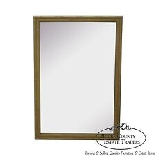 Hollywood Regency Faux Bamboo Painted Frame Wall Mirror