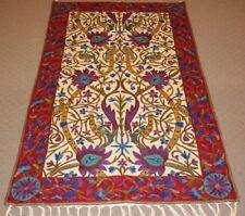 Oriental Persian Design Chain Stitch Handmade Wool Rug Carpet,Floor Decor