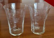 """Zwei Wasser-/Saft-/Weingläser Jugendstil/Art Deco, 20er Jahre, """"gewelltes"""" Glas."""