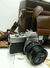 Minolta SRT 100 Film Camera w/ Minolta MC Rokkor-X PF 1:2 f = 50mm Lens w/bag
