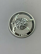 2020 British Indian Ocean Territory 1 Royal 1 oz Silver Sea Turtle BU Coin