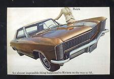 1965 BUICK RIVIERA CAR DEALER ADVERTISING POSTCARD COPY '65 BUICK RIVIERA