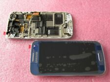 Original Samsung gt-i9195 Galaxy s4 mini display LCD Pantalla táctil + marco azul