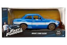"""Jada 1970 de BRIAN Ford Escort Azul """"Fast & Furious"""" 1/24 Coche de Metal 99572"""