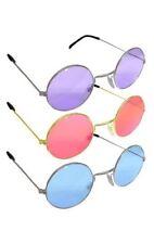 John Lennon Pink Blue Purple Round Hippie  Style Hippy sunglasses 3 Piece Set