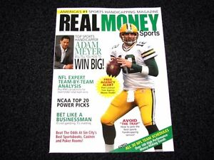 Real Money Sports Magazine Football Issue Green Bay Packers Aaron Rodgers NEW