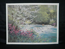 Nancy Raborn Catch Of The Day Fishing Limited Edition #40/1950 Lithograph
