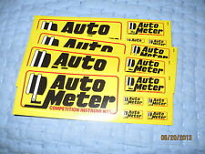 Auto Meter Promo Race Decal Stickers Lot of 4 Gauge NASCAR Classic Muscle Car