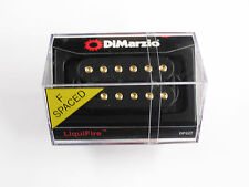 DiMarzio F-spaced Liquifire Neck Humbucker Black W/Gold Poles DP 227