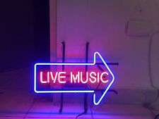 "New Live Music Bar Pub Beer Real Glass Neon Sign 20""x16"""