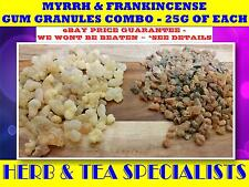 FRANKINCENSE & MYRRH GRANULES ~ 25G OF EACH ☆MAGICK☆PROTECTION☆SAVE ☆ FREE POST