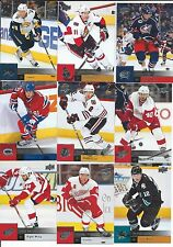 2009-10 UPPER DECK SERIES 1 AND 2 HOCKEY Complete your set 25 card lot W/ STARS