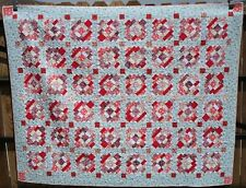 Full size handmade quilt Scrappy sunset theme