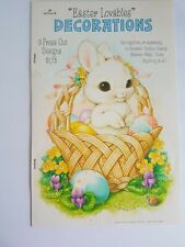 Easter Decorations Wall Press Out Book Hallmark 1982 Vintage
