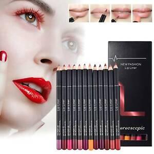 12 Farben Matte Lip Liner Set Lippenstift Makeup Lips Wasserdicht Dauerhaft
