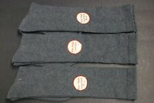 3 PAIRS 12 inch Women's knee high Boots socks shoe size 9-11 SOLID Gray