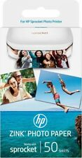 "HP ZINK Sticky-Backed Photo Paper For Sprocket Printer 2"" x 3"" NEW 50 Sheets"