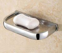 Chrome Brass Finish Bathroom Accessory Wall Mount Soap Dish Holder qba837