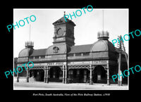 OLD POSTCARD SIZE PHOTO PORT PIRIE SOUTH AUSTRALIA RAILWAY STATION c1930