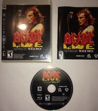 PS3 AC/DC Live Rockband Track Pack Playstation 3 Game Case & Art Work
