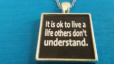 BDSM JEWELRY COLLAR NECKLACE It is ok to live a life others don't understand