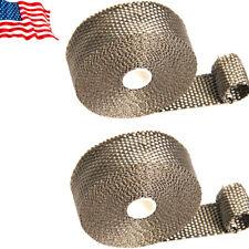 Titanium Header Exhaust Turbo Heat Warps 1in. ×1/16 in.×35 ft. 2 Rolls 6 Zip Tie