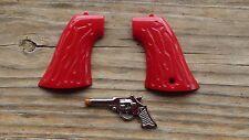Leslie Henry Red color GENE AUTRY toy cap gun grips