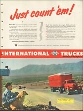 1940's Vintage ad for International Trucks`retro Red Photo Dog   090419