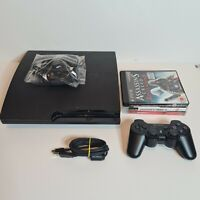 Sony PlayStation 3 Slim Console 160 GB - Black - CECH-3003A, all cables 3 games