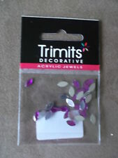 TRIMITS DECORATIVE ACRYLIC JEWELS - CHOICE OF COLOURS & SHAPES