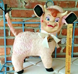 Vintage Rushton Pastiche PINK Cow With The Rubber Face That Launched 1000 Ships!