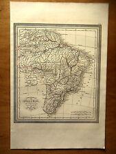 CARTE GEOGRAPHIQUE 19e - L'EMPIRE DU BRESIL - PAR LUD. VIVIEN - 1834