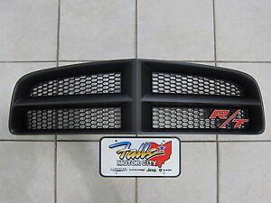 2006-2010 Dodge Charger Daytona Matte Black Grille AND R/T Emblem Mopar OEM