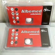 2 BOXES ALBEMED ANTHELMIN ALL WORMS KILLING for HUMANS FREE SHIPPING