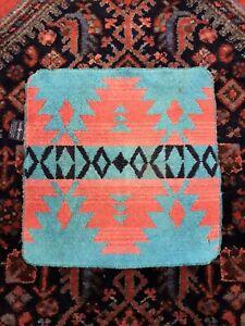 Ralph Lauren Orange Black Green Geometric Aztec Hand Towel Vintage Small