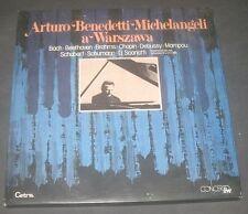 BENEDETTI MICHELANGELI - BEETHOVEN BRAHMS CHOPIN BACH CETRA LO 525 3 LP BOX EX