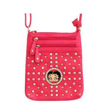 Betty Boop Messenger Bag, Black, Pink