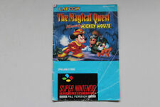 The Magical Quest Mickey Mouse Super Nintendo Instruction Manual (German Text)